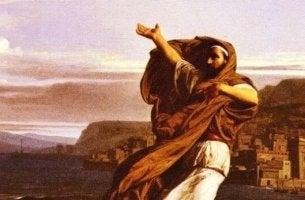 Redner Demosthenes - Demosthenes übt am Strand seine Reden
