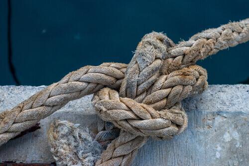 Knoten im Schiffstau
