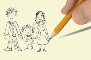 Projektionstest Familienzeichnung