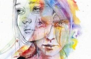 Polaritäten - Frau mit zwei Gesichtern