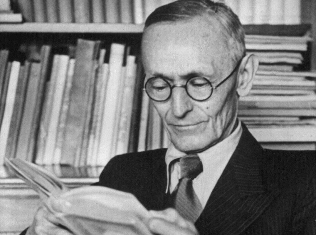 Schwarz-Weiß-Bild von Hermann Hesse
