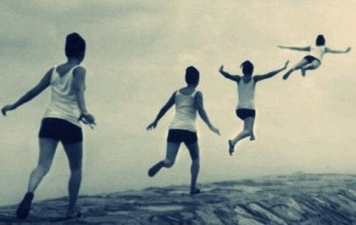 Junge fliegt