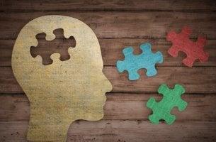 Konzepte in der Psychologie - Kopf mit Puzzlesteinen