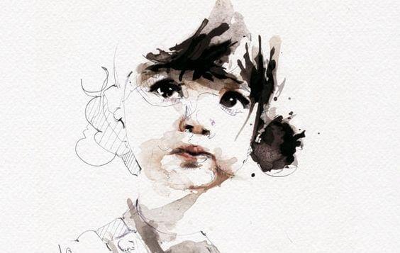 Zeichnung eines kleinen Mädchens
