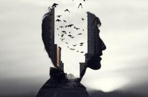 Selektives Gedächtnis - Panorama im Kopf eines Mannes