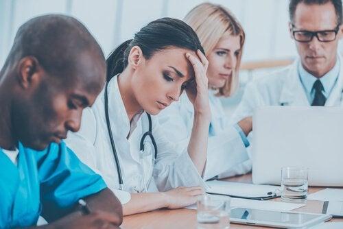 Meeting von Pflegekräften