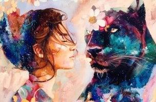 Weitermachen - Frau mit Panther