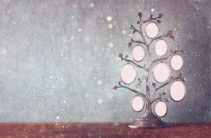 Familienstammbaum - Stammbaum mit ovalen Namensplatzhaltern.