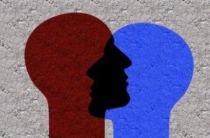 Soziale Identität - zwei Köpfe überlagern sich