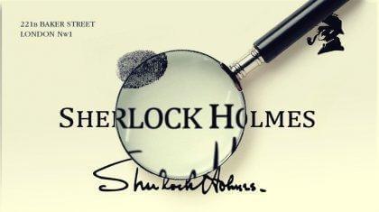 Visitenkarte Sherlock Holmes