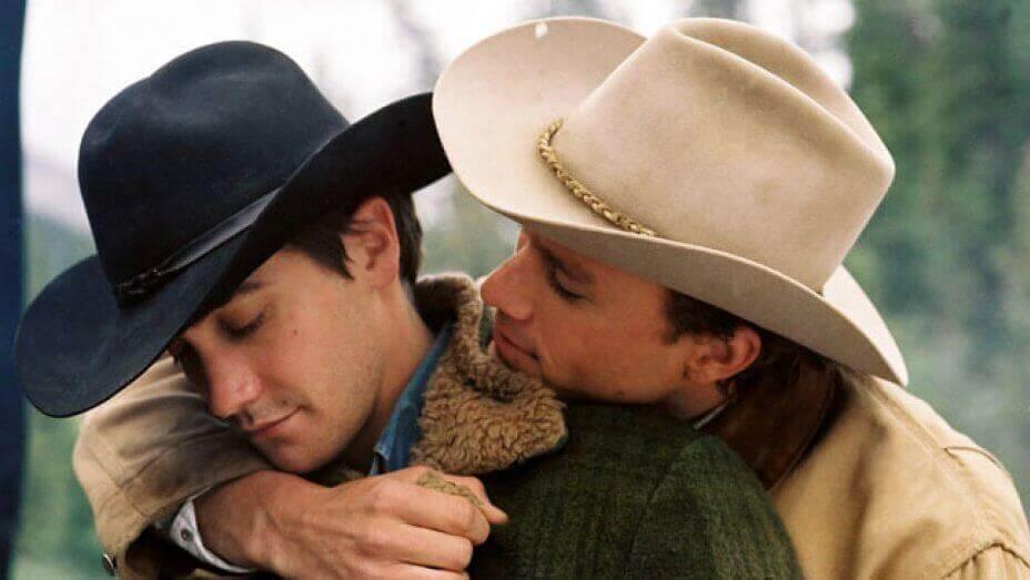 Brokeback Mountain - Jack und Ennis umarmen sich