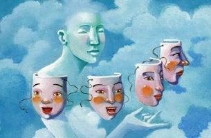 Wie beeinflusst meine Persönlichkeit mein Leben? - Eine Person sucht sich eine Maske aus