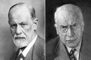 Unterschiede zwischen Freud und Jung - Porträts von Sigmund Freud und Carl Gustav Jung