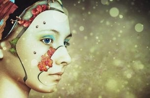 Behandlung von Depressionen - Frau, aus deren Gesicht Blätter wachsen