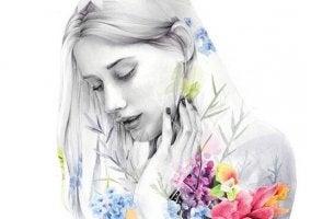 Kinder oder keine Kinder - Frau mit Blumen am Körper