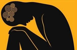 Mythen über Angst - gebeugte Figur