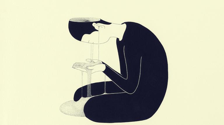 Depressiver Mann verliert seine kognitiven Fähigkeiten