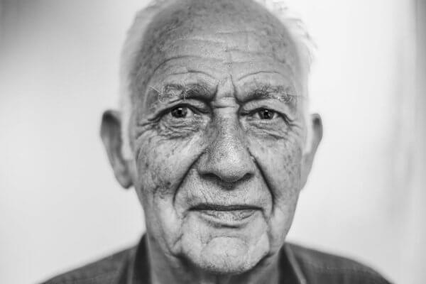 Gesicht eines alten Mannes