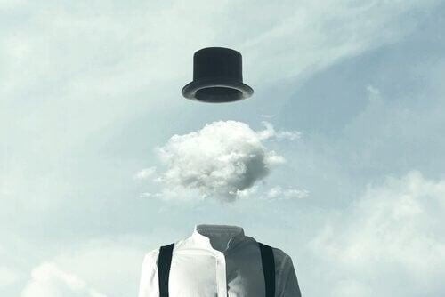 Konzentration verbessern - Mann mit Wolke als Kopf
