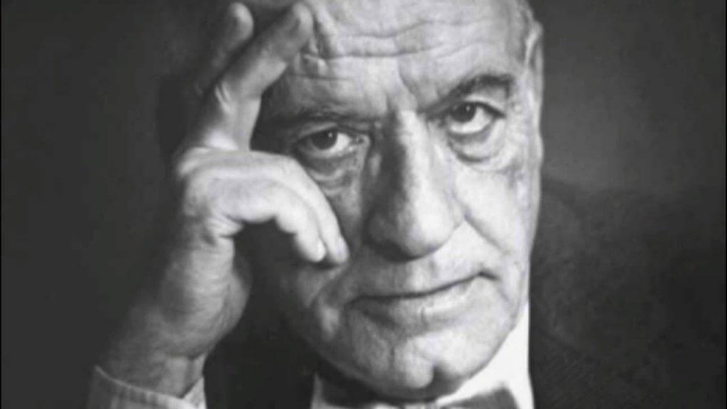 Schwarz-Weiß-Bild von Ortega y Gasset