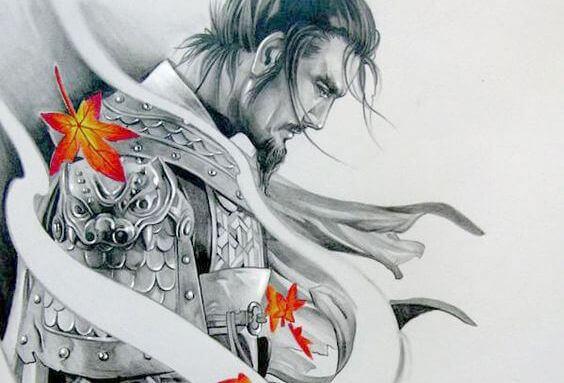 Samurai in Rüstung