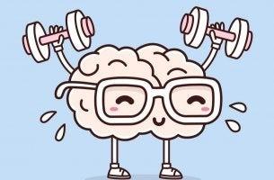 Warum ist Sport gut für die Psyche? - Gehirn hebt Hanteln