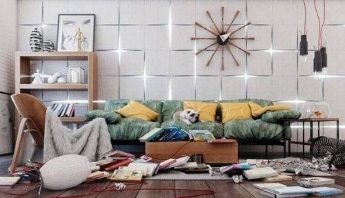 Chaos im Wohnzimmer