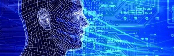 Ein digital erstelltes Gesicht symbolisiert die Angewandte Psychologie
