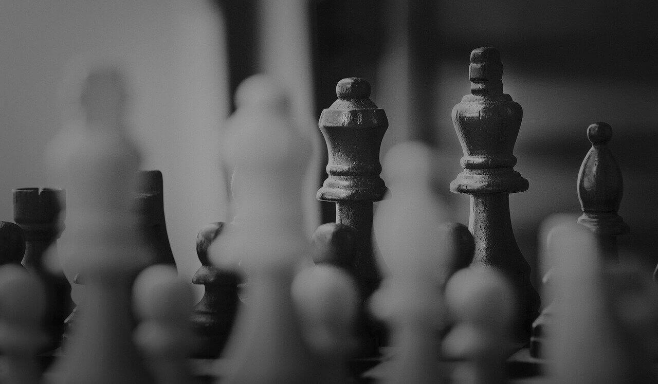 Figuren eines Schachbretts