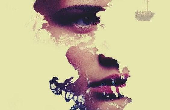 Fragmente eines Gesichts