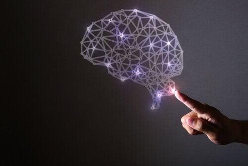 Gehirn mit Lichtern