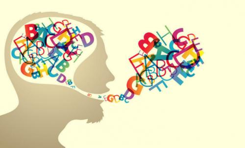 Gehirn denkt sich Worte aus, die dann gesprochen werden