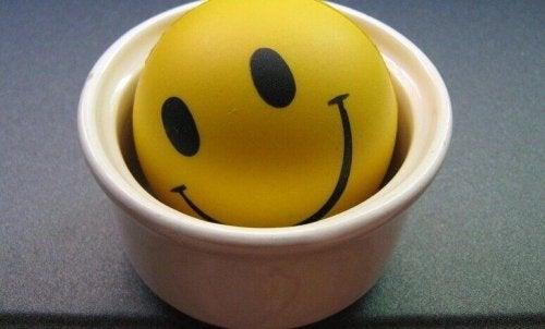 Smiley in einer Schüssel