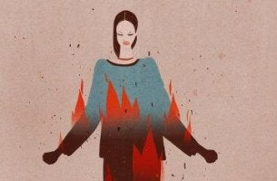 Jähzornige Menschen - Frau in Flammen
