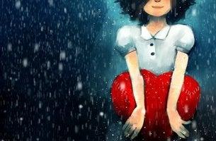 Grenzen setzen - Mädchen hält Herz nah an sich.
