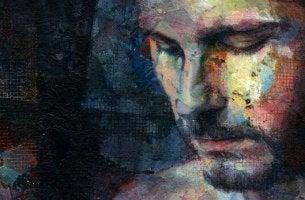Laterales Denken - ein Mann mit geschlossenen Augen