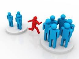 Menschen wechseln ihre Positionen, Ansichten und Verhaltensweisen