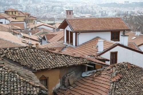 Dächer einer spanischen Stadt