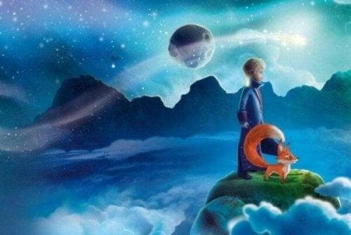 Der kleine Prinz beobachtet den Horizont