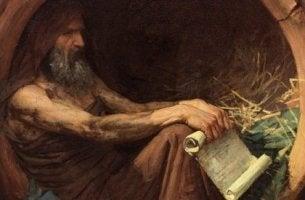 Zitate von Diogenes - Diogenes, der Zyniker, in seinem Fass