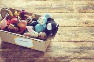 Spielzeug in einer Box