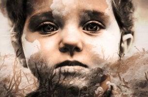 Transgenerationales Trauma - Kind schaut in die Vergangenheit