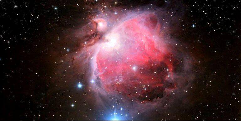 Das Universum in schwarz, pink und blau