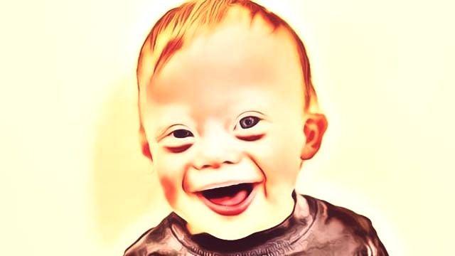 Welt-Down-Syndrom-Tag - Zeichnung eines Kindes mit Down-Syndrom
