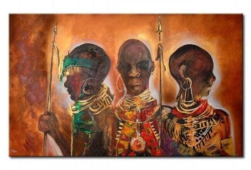 Afrikanische Krieger
