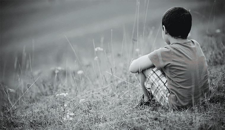Ein verlassenes Kind