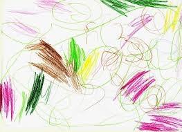 Kritzeleien bilden die erste Phase der Kinderzeichnungen.
