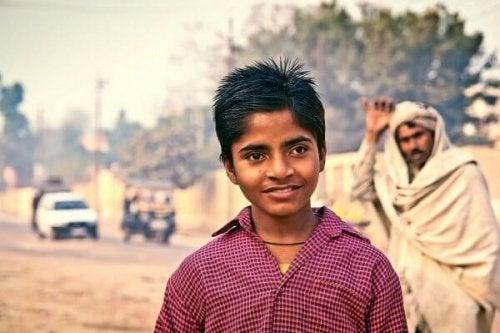 Ein indischer Junge