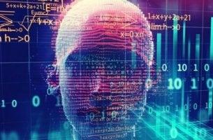 Eine Computersimulation von einem Kopf
