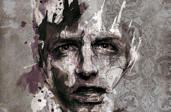 Grafische Darstellung eines männlichen Gesichts